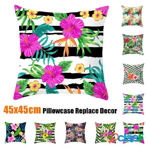 Tropical planta capas para almofadas de sofá capas de almofadas com zíper para sofá em casa
