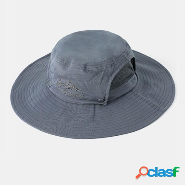 New fishing chapéu men's sun chapéu outdoor sunscreen mountaineering sun chapéu big brim fishing respirável fisherman chapéu