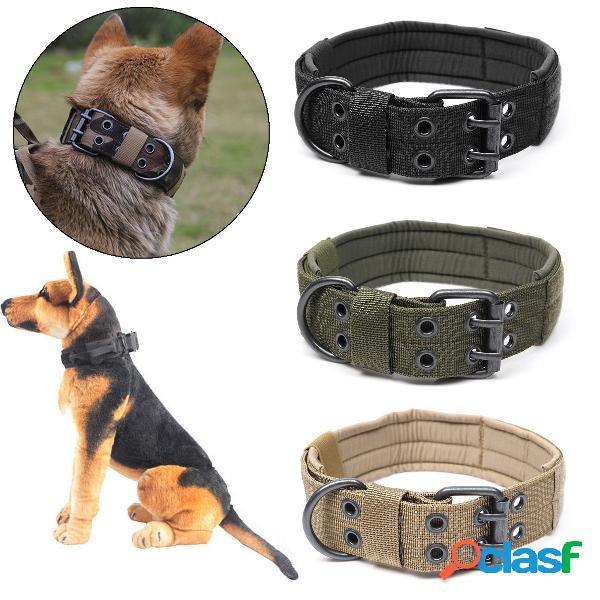 Nylon táticas de treinamento de médio e grande porte cachorro cachorro anel de cinco blocos de ajuste da fivela da agulha