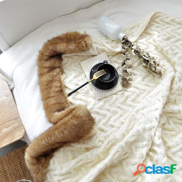 Nórdico engrossar quente malha lã islandesa manta outono inverno soft manta de dormir manta de sofá manta manta de joelho