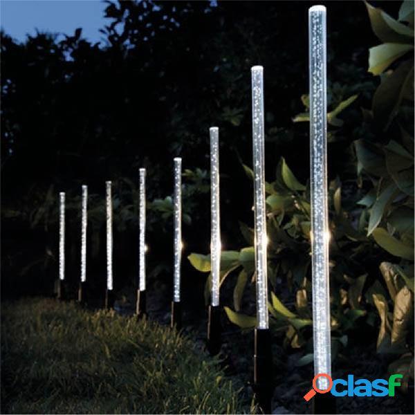 8 pcs luzes de energia solar bubble white led lâmpada leve para jardim gramado externo