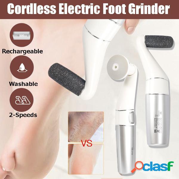 2 em 1 moedor de pés elétrico recarregável sem fio moer pés moer unhas remover calos grossos pele morta