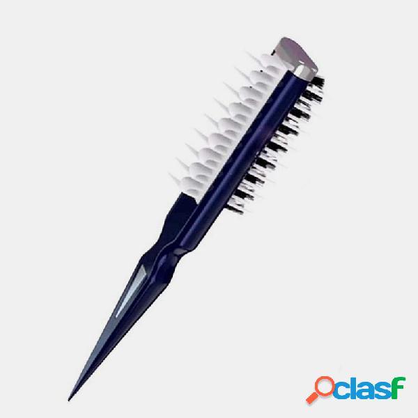 Cabelo portátil que penteia o tubarão escova cabelo dupla face pente multifuncional pentear escova cabelo ferramenta de estilo