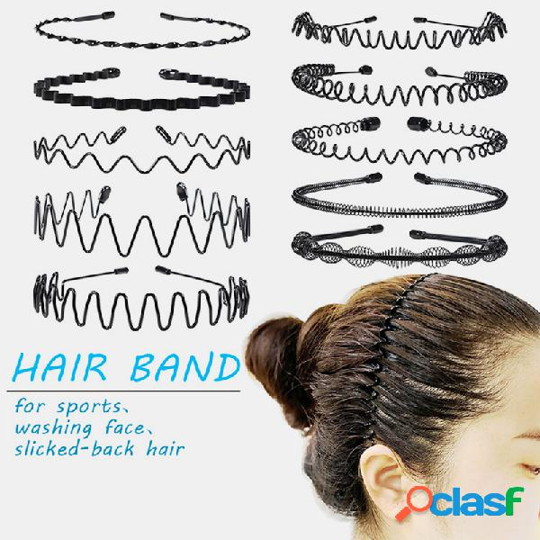 Estilo do esporte das mulheres dos homens headband hairpin rosto lavar o cabelo pressão traseira não ferido acessórios para o cabelo