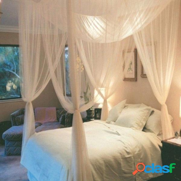 Mosquiteiro 4 canto post cama dossel mosquiteiro rainha completa cama king size rede