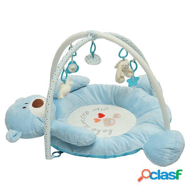 Dobrável musical urso do bebê playmat crianças macio atividade ginásio tapete crianças bebê jogar morcego