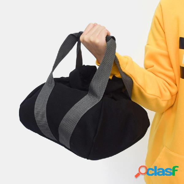 Preto aptidão exercício levantamento de peso sacos de areia ajustável portátil yoga aptidão treinamento dumbbell sandbag
