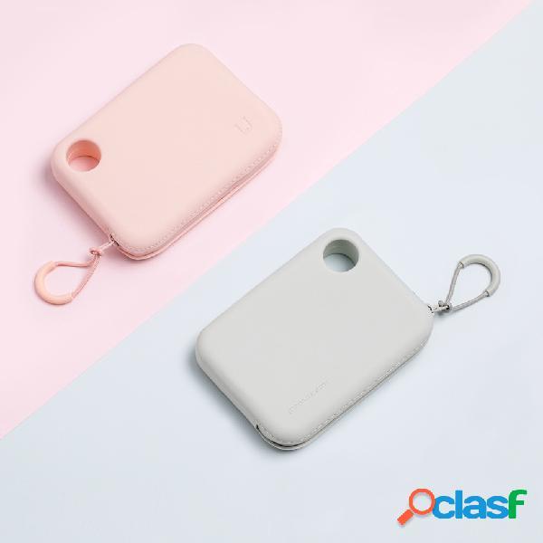 Xiaomi mijia silicone portátil com zíper bolsa de armazenamento bolsa carteira leve