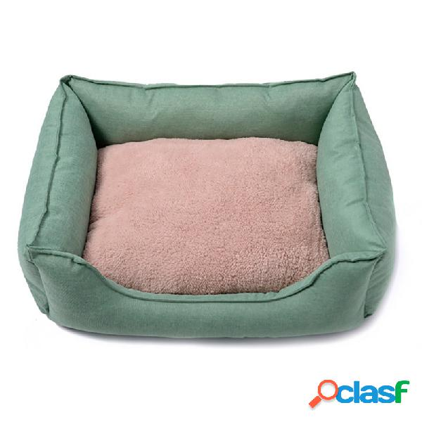 3 cores de pelúcia oxford tecido pet canil kan cat dog anti-risco canil