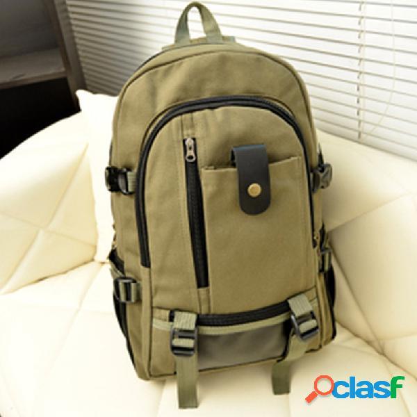 Laptop de lona de grande capacidade bolsa mochila para homens