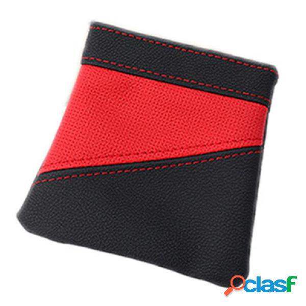 Carro de couro saco de armazenamento de ventilação de ar titular do telefone sundries balde de armazenamento pendurado bolsa de bolso