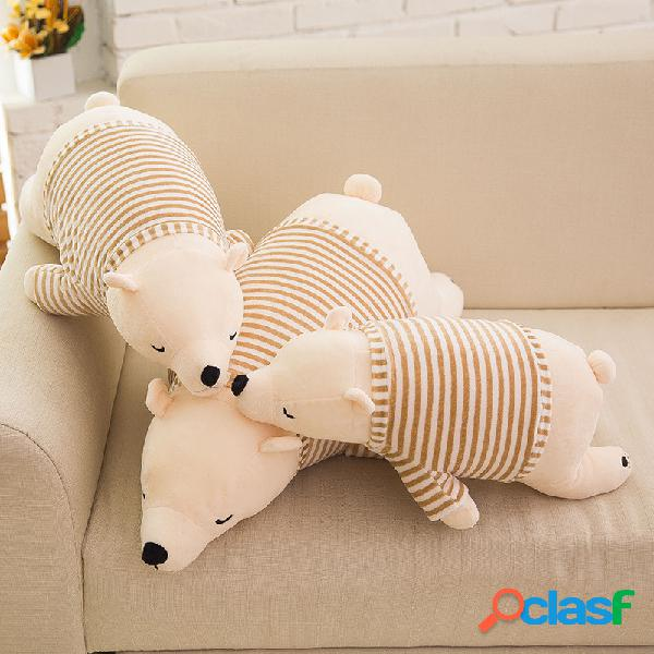 """11.8 / 19.7 """"4 estilos urso polar de pelúcia bonito dos desenhos animados boneca pp algodão enchimento de decoração para casa brinquedo de pelúcia criança"""