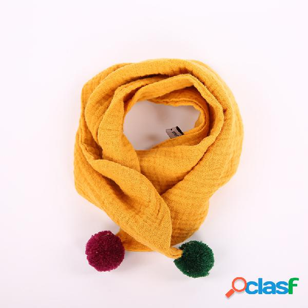 Decoração de bola infantil meninos meninas inverno algodão quente lenço quente pescoço aquecedor