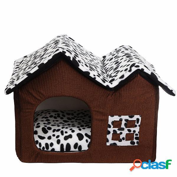 Portátil de luxo cão de estimação gato cama casa quente mat snug puppy bedding casa macia