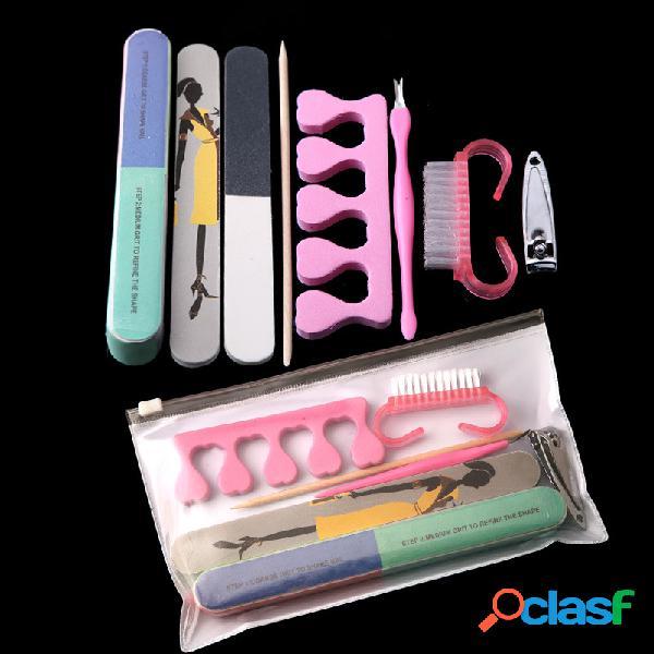 Prego manicure care set prego arquivo nail dead skin remover tool kit 8 pcs manicure set