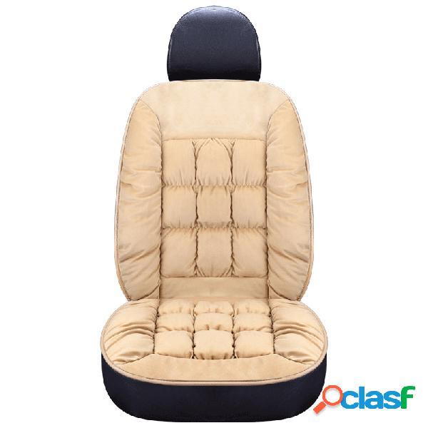 Tamanho universal inverno engrossar curto de pelúcia capa de assento do carro mat sost almofada do assento quente