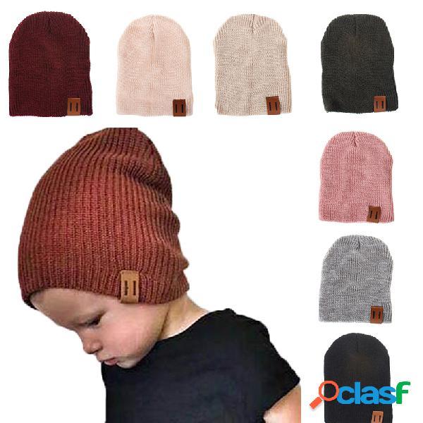 Gorro elástico forte estilo soft em malha infantil de algodão para 1 a 5 anos