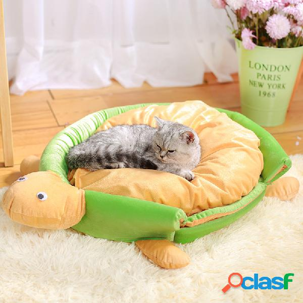 Pet rodada canil inverno yurt inverno morno removível respirável cat dog bed