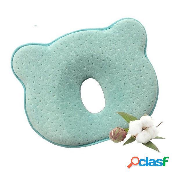 Travesseiro de bebê infantil criança sono positioner anti roll almofada proteção cabeça chata para o bebê algodão p