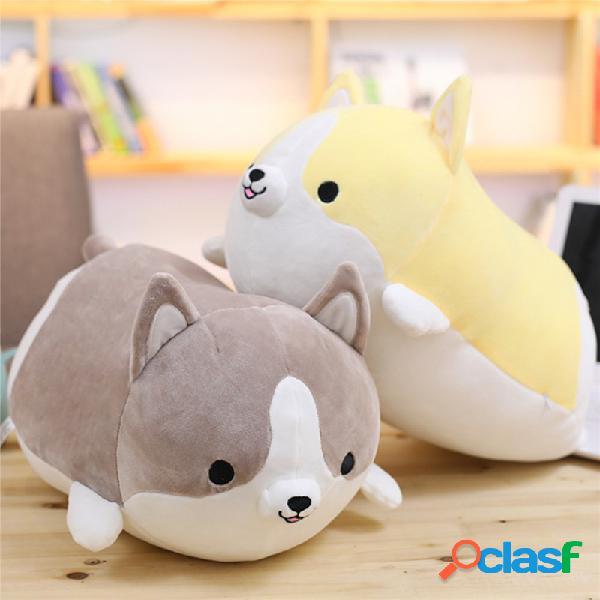 35/50/60 cm kawaii curto dos desenhos animados de pelúcia shiba inu corgi cão abraço travesseiro almofada macia presente de natal