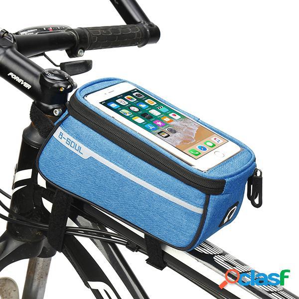 Homens e mulheres oxfold tela de toque à prova d 'água 6 polegada telefone bolsa bicicleta equitação bolsa