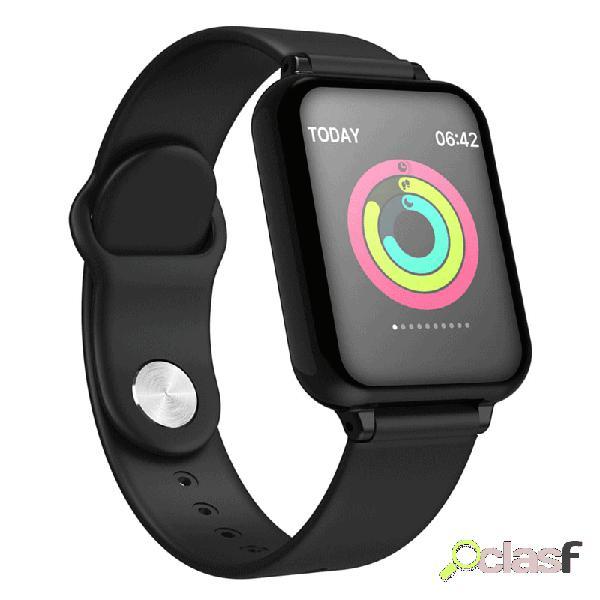 Pulseira de pulso de saúde para controle de relógio inteligente monitor de atividade de pressão arterial hr relógio para lembrar do tempo para homens e mulheres