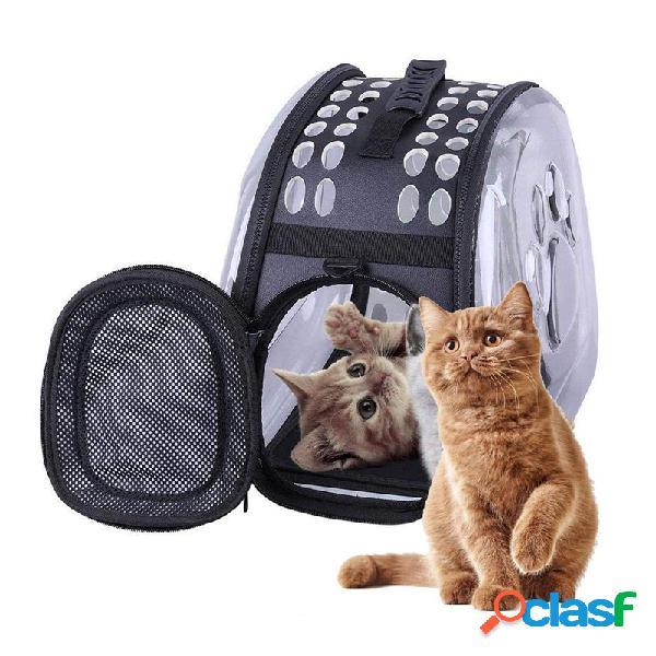 Universal transparente pet gato filhote de cachorro portador saco de viagem à prova d 'água cápsula do espaço mochila
