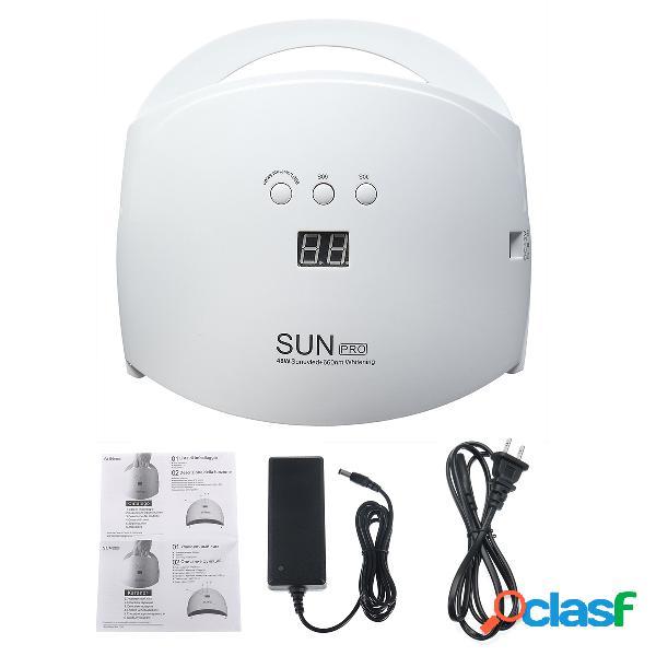 48 w led prego da lâmpada do sensor inteligente uv prego secador rapidamente seco máquina de unhas para a beleza do prego
