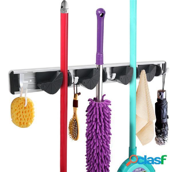 Multifuction bathroom kitchen storage tool holder suporte de escova de mop com suporte de parede suporte de cremalheira de escova