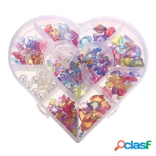 Série de cristal diy ofício contas kit para meninas presente de aniversário crianças brinquedo educativo