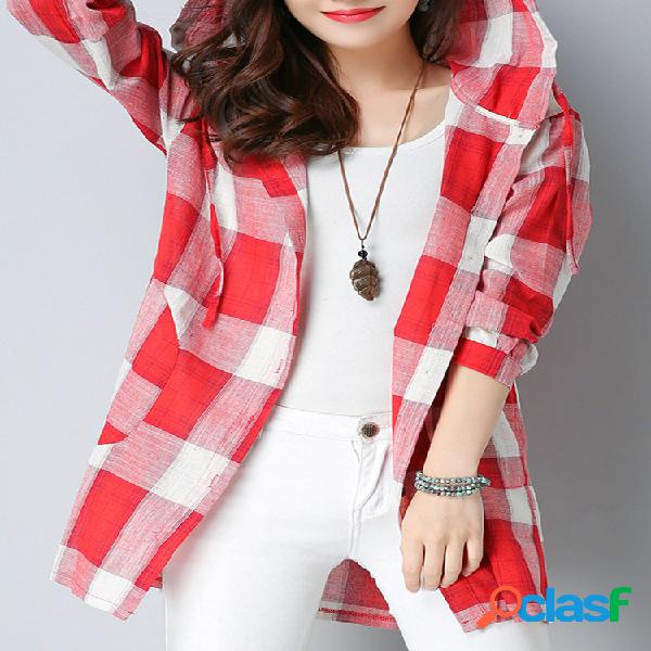 Blusa casual manga comprida blusa com capuz