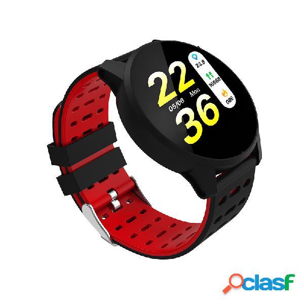 Smart watch dynamic coração monitor de atividade de oxigênio de pressão sangüínea round dial smart watch