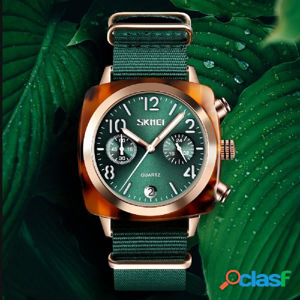 Único design multi-dial luminosa impermeável mulheres relógio de pulso de quartzo