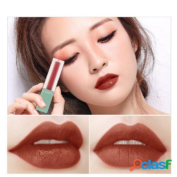 Gloss labial de veludo fosco de 5 cores com brilho labial de chocolate líquido de longa duração batom