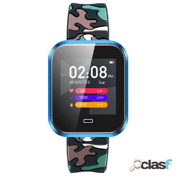 Modos de esporte social smart watch camuflagem freqüência cardíaca de pressão arterial silicone digital wacth