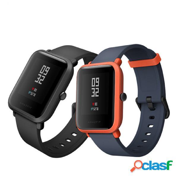 Original xiaomi amazfit bip pace youth gps bluetooth 4.0 ip68 monitor de atividade relógio inteligente versão internacional
