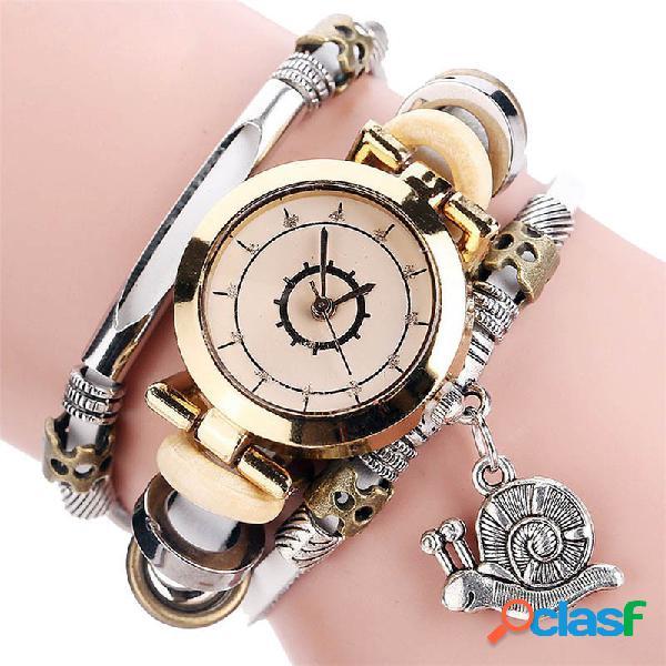 Relógio de quartzo de relógio de quartzo de bracelete de relógio de mostrador de relógio de strass para mulheres