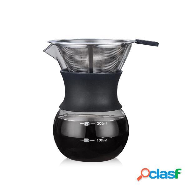 Vidro de borosilicato de vidro do café que compartilha do fabricante de café garrafa de café 200ml / 400ml com o filtro