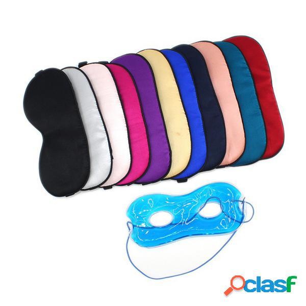 Máscara de sono respirável natural e de seda máscara de olhos coloridos relax aid sleep blackout
