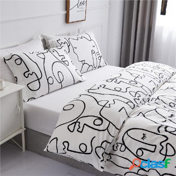 2 peças de roupa de cama de algodão fronha de cor sólida, têxteis domésticos