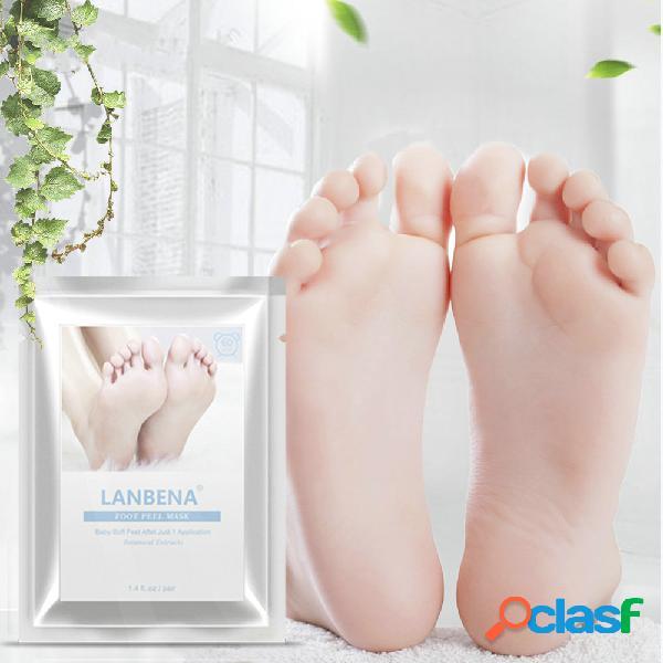 Esfoliante foot peel máscara hidratante suavizar a pele remover os calcanhares pé dead skin máscara