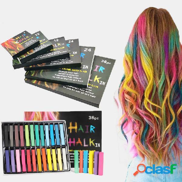 Caneta dye descartável cabelo não tóxica cabelo dye crayon chalk girls kids party cosplay diy ferramentas de estilo temporárias