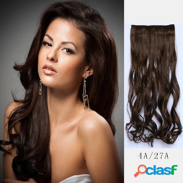 38 cores sintético cabelo extensões 5 clips falso cabelo peças longas encaracolado peruca