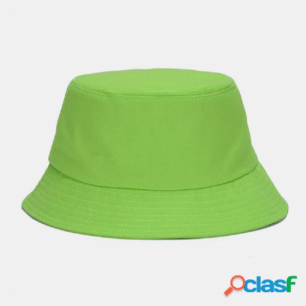 Unissex moda casual jelly cor sólida poetable sunscreen outdoor sun chapéu balde chapéu