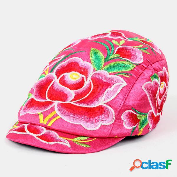 Bordado turismo chapéu boné bordado estilo nacional boné feminino estilo casual chapéu turismo chapéu