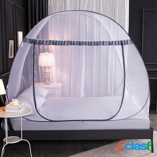 Rede mosquiteira livre de instalação doméstica pops-up mesh tenda dobrável padrão conta adulto anti-queda encryption rede mosquiteira