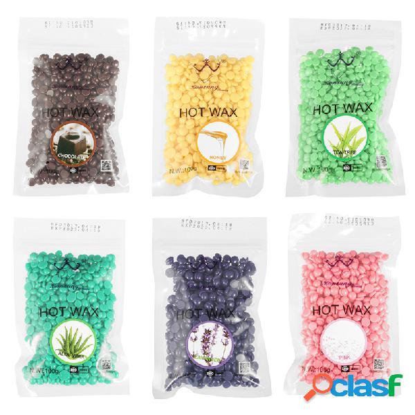 100g / pack depilação hot film hard wax bean pellet depilação depilação sem faixa