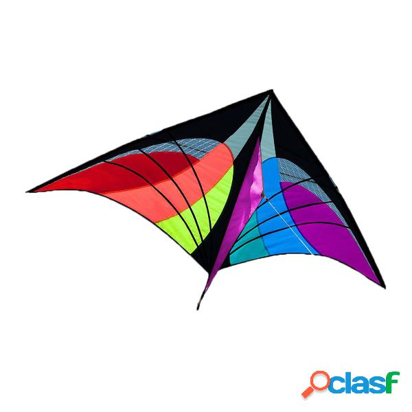 5,2ft delta triangle kite outdoor kids diversão sport toy single line multicolor hot