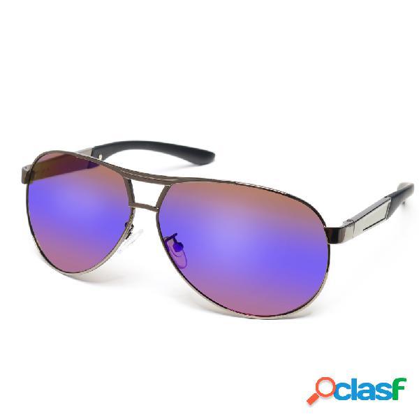 Óculos de sol frog metal frame polarizado outdoor condutor hd anti-uv para homens