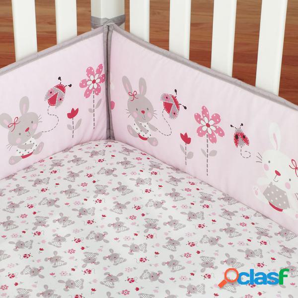 4pcs coelho bebê infantil berço pára-choques protetor de segurança conjunto berçário da criança